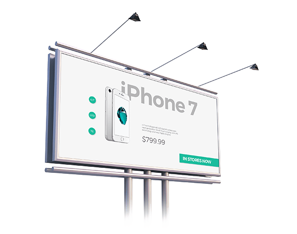 iphone 7 billboard example