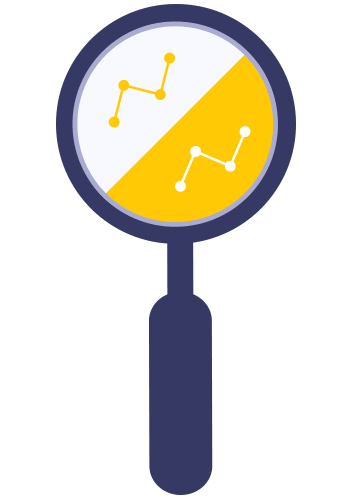 seo magnifying glass illustration