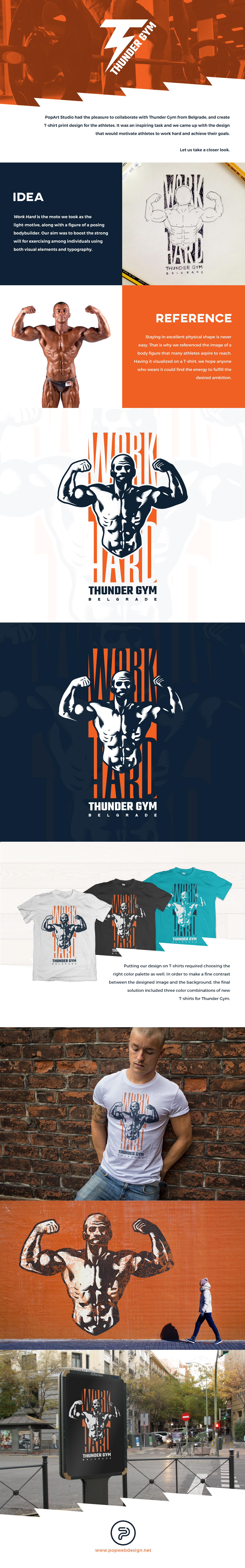 Illustration on a gym T-shirt