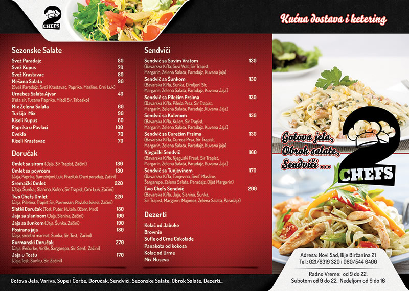 Menu And Beverage List Design