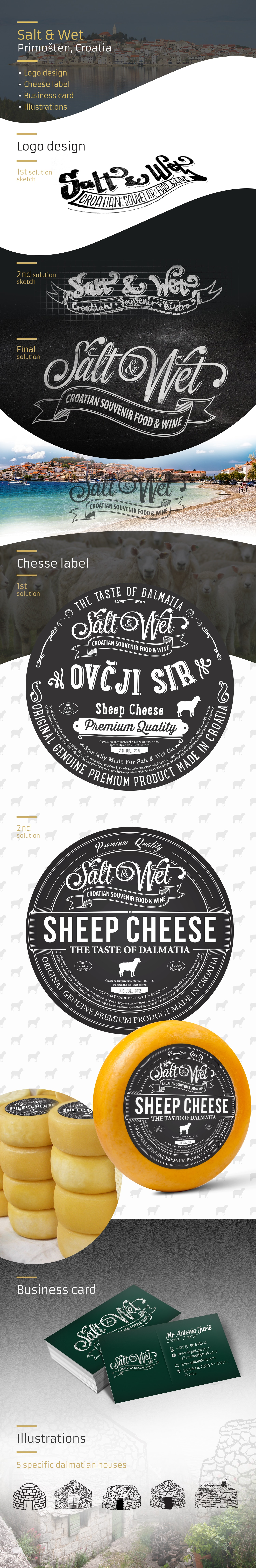 saltandwet chesse label and logo