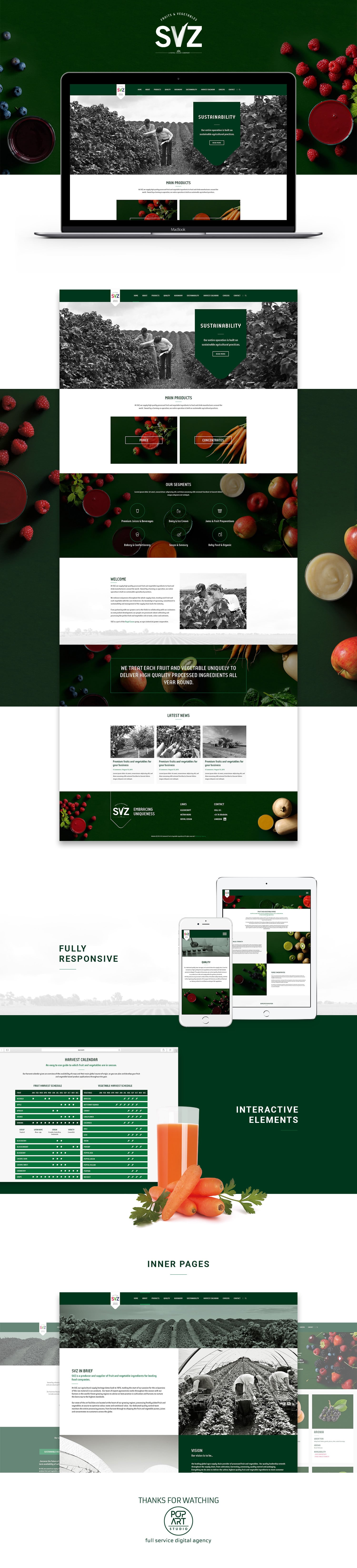 Web design and development for a Dutch agro supplier SVZ