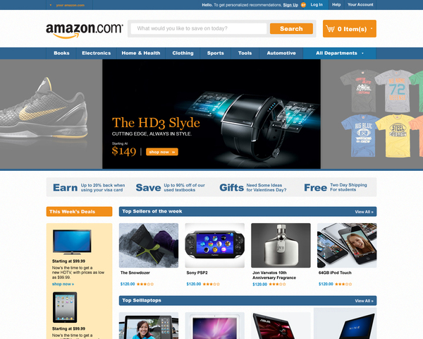 amazon first concept trevor cleveland 18 Cool Concept Designs (Facelift) of Notable Websites