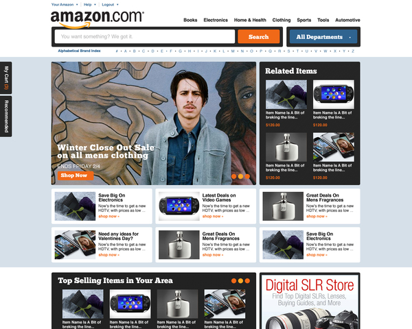 amazon second concept trevor cleveland 18 Cool Concept Designs (Facelift) of Notable Websites