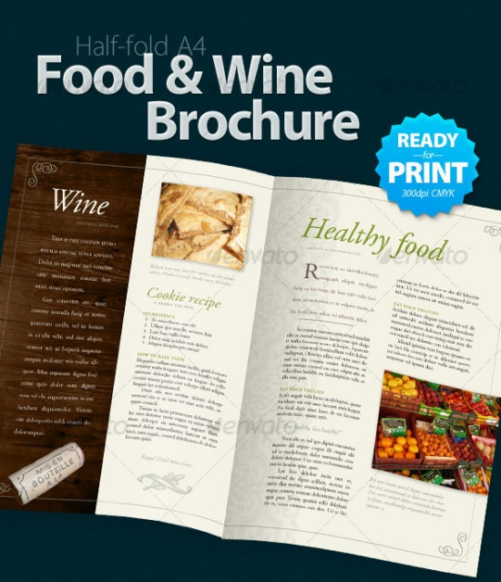 Food and Wine Brochure (4 Pages)