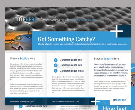 Clean Corporate Brochure - Tri-Fold