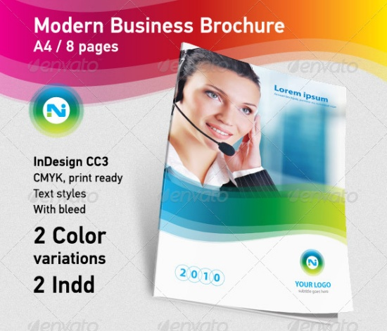 Modern Business Brochure A4 8 Pages