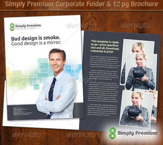 Simply Premium Corporate Folder & Brochure