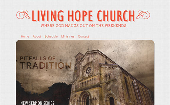 Designing a Church Homepage Without the Clutter