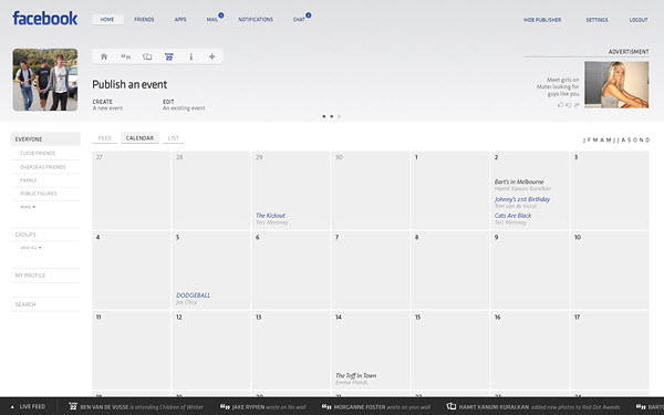 facebook events page barton smith 18 Cool Concept Designs (Facelift) of Notable Websites