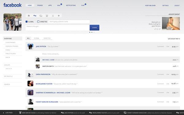 facebook main page barton smith 18 Cool Concept Designs (Facelift) of Notable Websites