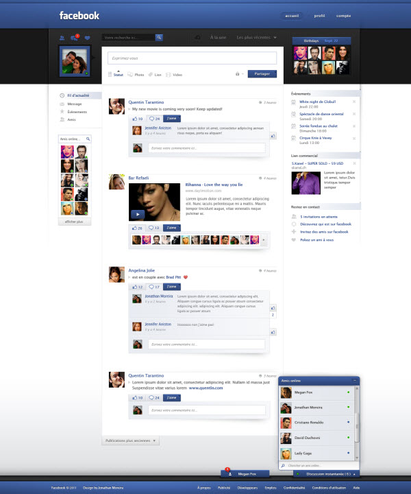 facebook main page jonaska 18 Cool Concept Designs (Facelift) of Notable Websites