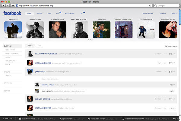 facebook notifications page barton smith 18 Cool Concept Designs (Facelift) of Notable Websites
