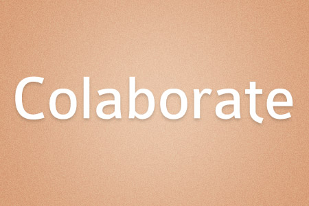Download the Colaborate font