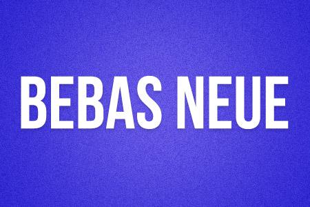 Download the Bebas Neue font