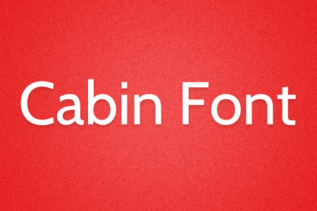 Download the Cabin font