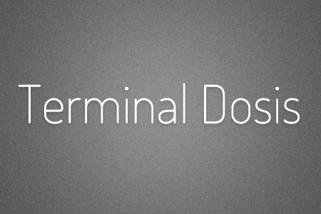 Download the Terminal Dosis font