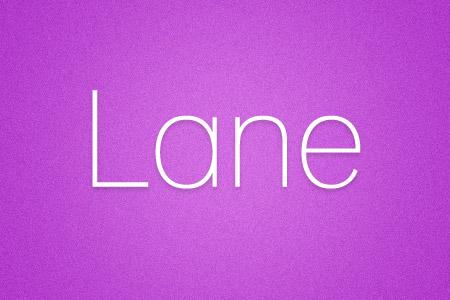 Download the Lane font