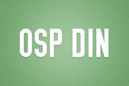 Download the OSP DIN font