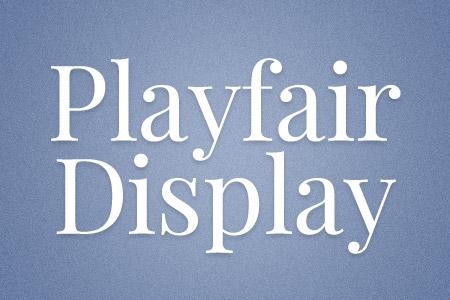 Download the Playfair Display font