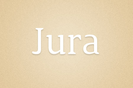 Download the Jura font