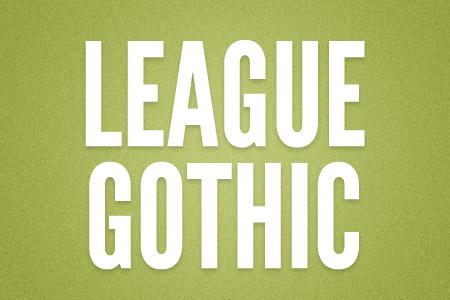 Download the League Gothic font
