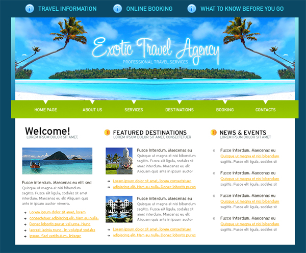 Free download css templates for travel