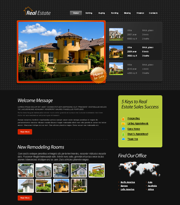 Besplatni xhtml css template for Free real estate templates