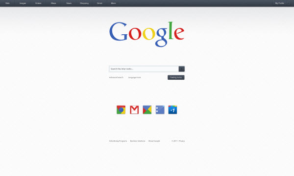 google main page craig reville 18 Cool Concept Designs (Facelift) of Notable Websites