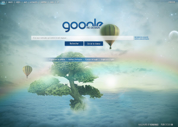 google main page floxdesign 18 Cool Concept Designs (Facelift) of Notable Websites
