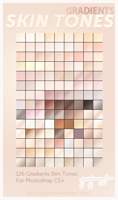 Skin Tones Gradients