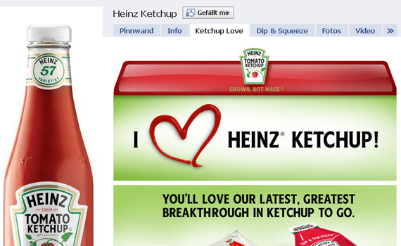 heinz ketchup beautiful facebook site