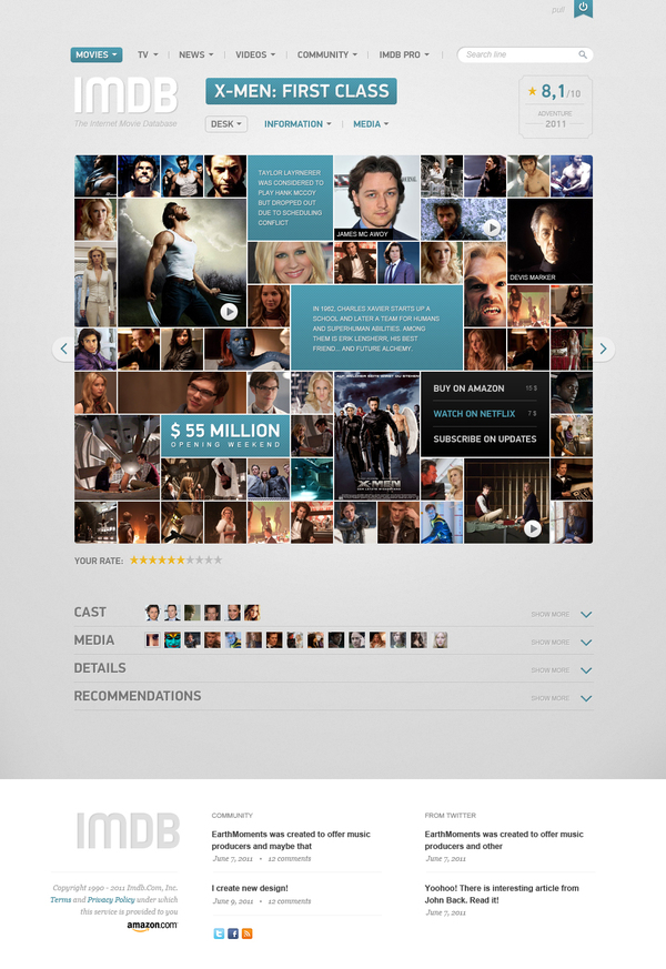 imdb film page vladimir kudinov 18 Cool Concept Designs (Facelift) of Notable Websites