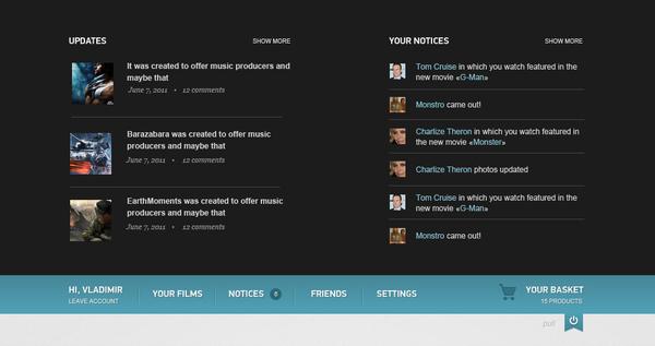 imdb top panel vladimir kudinov 18 Cool Concept Designs (Facelift) of Notable Websites