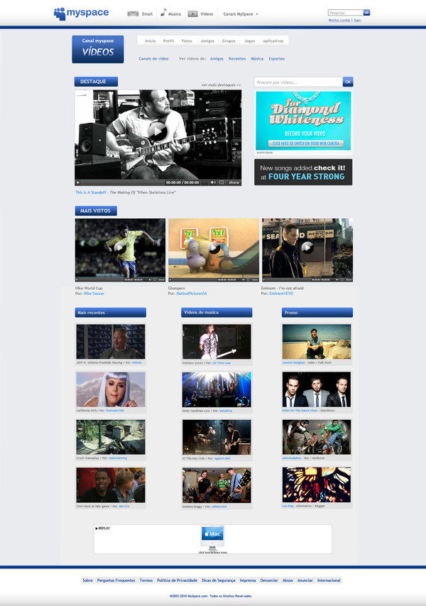 myspace videos channel page rafael oliveira 18 Cool Concept Designs (Facelift) of Notable Websites