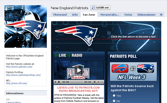 new england patraiots beautiful facebook site