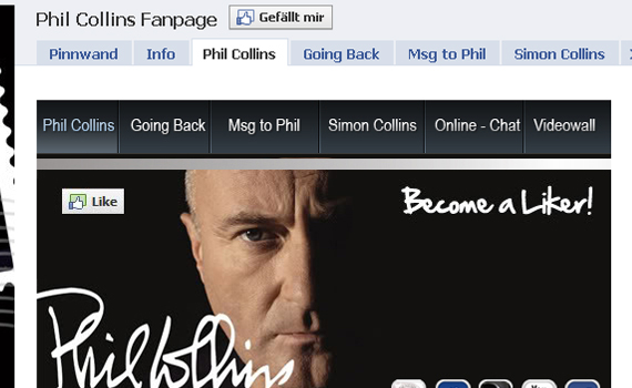 phil collins beautiful facebook site
