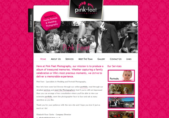 Pink Feet Photography