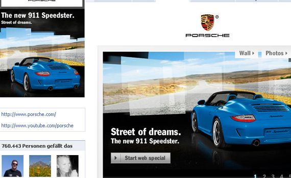 porsche beautiful facebook site