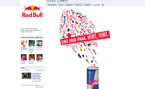 red bull beautiful facebook site