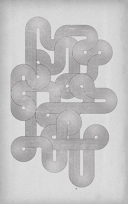 Geometric retro lines design