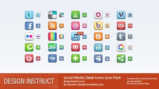 Social Media Sleek Icons
