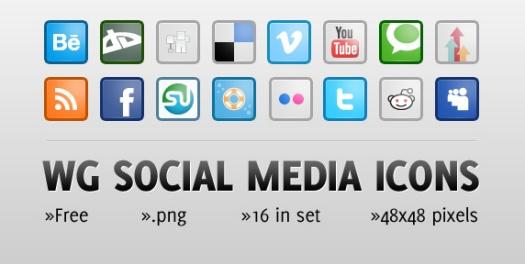 WG Social Media Icons