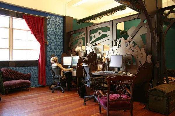 Steampunk office