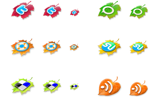 the leaves fall social media icons Social Media Icons Part 2 – 300 Icons