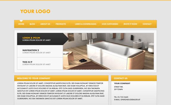 Website Design 2 PSD