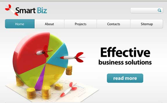 Free Business Website Template with PSD files