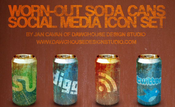 word out soda cans social icons Social Media Icons Part 2 – 300 Icons