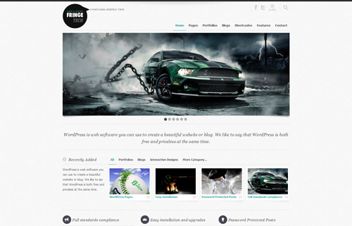 Fringe Tech Premium WordPress Theme