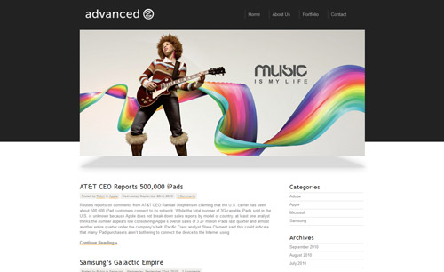 Advanced Portfolio – WordPress Theme